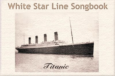 Titanic White Star Line Music book header